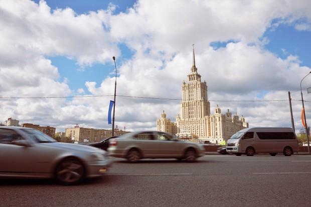 """Една от седемте сгради - """"Седемте сестри"""" на Сталин. В момента - хотел Raddison"""